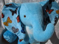 Home Decor ELEPHANT BUTTERFLIES de Luxe  by TALLhappyCOLORS, €70.00