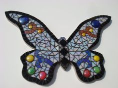 Mosaic Butterfly Garden Wall Plaque Hanging Art by FunkyMosaicsUK, £59.00