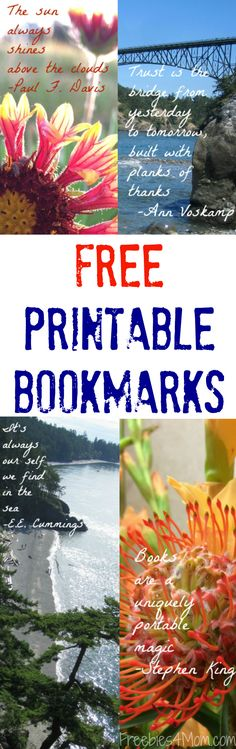 Free Printable Bookmarks plus save money on ink with HP Instant Ink! PRINT…
