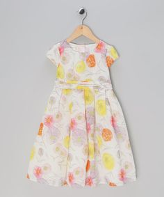 Take a look at this Yellow Floral Voile A-Line Dress - Toddler & Girls by Matilda's Wardrobe on #zulily today!