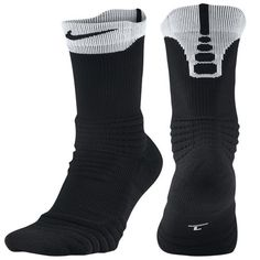 Nike Elite Versatility Crew Socks at Foot Locker Nike Socks, Designer Socks, Foot Locker, Crew Socks, Black And White, Guys, Casual, Clothes, Shoes