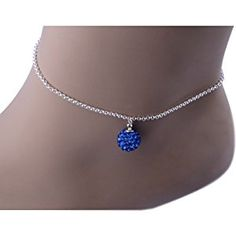 Kadima Swarovski Elements Crystal Disco Ball 10mm Bracelet,Bracelet Length 8.5 Inches,Sapphire  http://electmejewellery.com/jewelry/anklets/kadima-swarovski-elements-crystal-disco-ball-10mm-braceletbracelet-length-85-inchessapphire-ca/