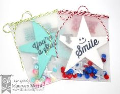 Maureen Merritt: Lil' Inker Designs April Release - Day 2 Featuring the Star Fold Out Die, Quick Notes Stamp Set and Glassine Bags