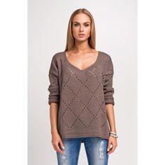 2f0a2139ab8 Cappuccino Blue Structure Plus Size Sweater LAVELIQ