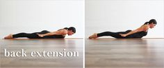back-extension to correct Dowager's hump (or upper spinal hump)