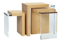 Three-Way Nesting Side Tables by Ted Boerner