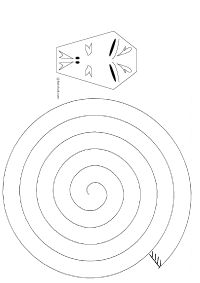 serpent spirale en papier