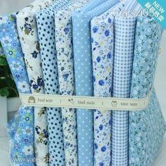 patchwork anyag kék - Méteráru
