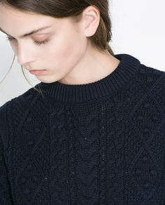 CABLE-KNIT SWEATER from Zara