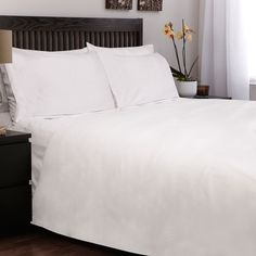 White Down Alternative Comforter with 3-Piece Duvet Cover Set Queen $69.99 on Overstock.com