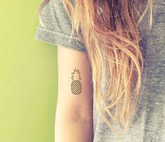 This adorable pineapple:   68 Beautiful Temporary Tattoos You'll Want To Keep Forever