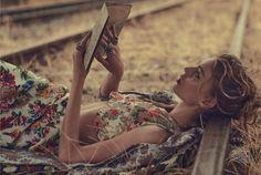 Last Train - Ondria Hardin by Will Davidson for Vogue Australia March 2016 - Emilia Wickstead