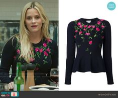 b78b00b6ba Madeline s floral embroidered sweater on Big Little Lies. Outfit Details   https
