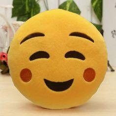 6 Inch Lovely Emoji Smiley Emoticon Pillows Soft Stuffed Plush Cute Cartoon Toy Doll 12 Styles Christmas Gift 2016 fashion new