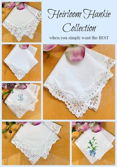 Beautiful handkerchiefs for your wedding