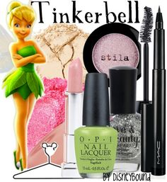 Makeup inspired by Tinkerbell! Tinkerbell Makeup, Tinkerbell Disney, Disney Makeup, Disney Nails, Tinkerbell Party, Disney Princess, Diy Beauty, Beauty Makeup, Fashion Beauty