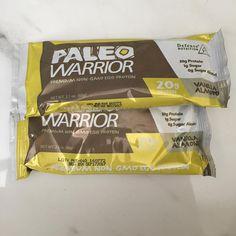 Wow tasty nutritious and #paleo #paleowarriorbar #defensenutrition 20g protein 1g sugar 4 g net carbs #yourhealthisyourwealth