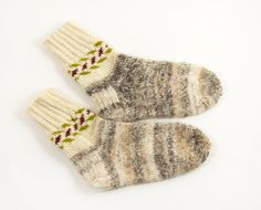 Hand Knitted Dog Wool Socks Hand Spun Hand by UnlimitedCraftworks