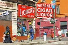 Street In The Tenderloin District, San Francisco By Mitchell Funk  www.mitchellfunk.com