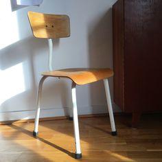 Orangevertevintage — Chaise Vintage Bois et Métal