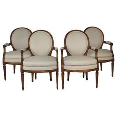 Check out this item at One Kings Lane! Louis XVI-Style Armchairs, Set of 4