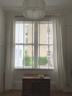 Chalk Wood Venetian Blind With 25m Drop Installed In Hove