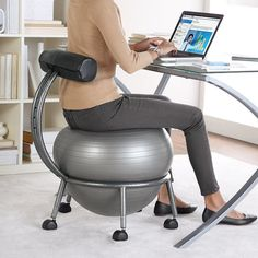 FitBALL Balance Ball Chair at Brookstone—Buy Now! from Brookstone. Saved to Things I want as gifts. Cool Ideas, Ball Chair, Cool Gadgets, Cool Stuff, Random Stuff, Things I Want, Awesome Things, Awesome Food