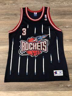 204f53a0a18 Steve Francis Houston Rockets Vintage Champion NBA Jersey 48