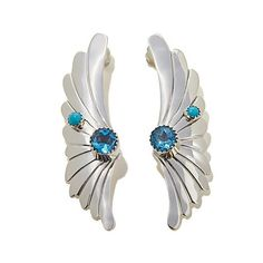 Shop Chaco Canyon Couture Multigemstone Winged Cuff Sterling Silver Earrings, read customer reviews and more at HSN.com.