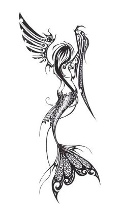 Mermaid Angel Fairy Tattoo