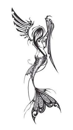 Mermaid Angel Fairy Tattoo