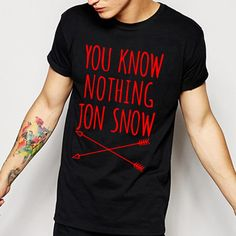 Game Of Thrones T Shirt Winter Is Coming You Know Nothing TShirt MEN Jon Snow Print Men T-Shirt house stark Good Cotton Man Tee  #Affiliate