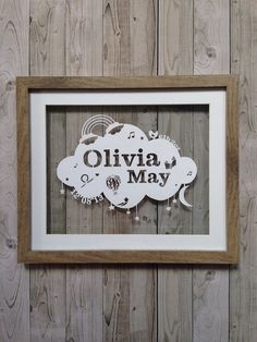 Personalised Papercutting New Baby Girl by SamanthaPapercuts