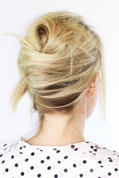 Le Fashion Blog -- Hair Inspiration: How To Get A Textured French Twist -- Wedding Party Up Do -- Polka Dot Top -- Via Abby Twist Me Pretty -- photo Le-Fashion-Blog-Hair-Inspiration-How-To-Get-A-Textured-French-Twist-Wedding-Party-Up-Do-Polka-Dot-Top-Back-Via-Abby-Twist-Me-Pretty.jpg