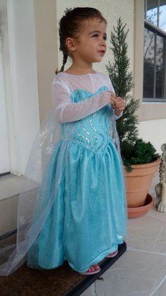 Princess Elsa Frozen Custom Fitted Made Dress Costume by FluidYard Elsa Halloween Costume, Elsa Dress, Queen Elsa, Elsa Frozen, Samhain, Costume Dress, Olaf, Camilla, Rapunzel