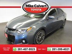 2015 Toyota Corolla S 11k miles $18,275 11173 miles 281-407-9523  #Toyota #Corolla #used #cars #MikeCalvertToyota #Houston #TX #tapcars