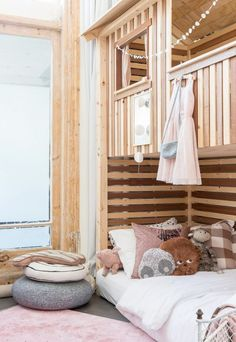 Kids bedroom with a treehut