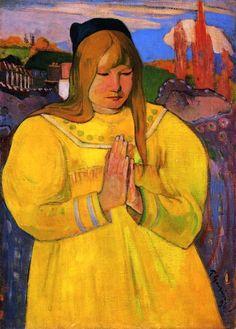Paul Gauguin (French, 1848-1903). Young Christian Girl (Bretonne en Prière), 1894. Oil on canvas