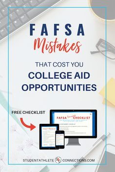 Avoid critial FAFSA mistakes that can cost your family opportunities for college aid, or risk leaving precious dollars on the table. College Life Hacks, College Costs, Financial Aid For College, College Fund, College Planning, College Classes, Online College, Education College, College Tips