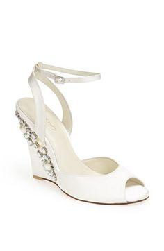 Elegant wedding wedge option. Menbur 'Rubi' Sandal available at #Nordstrom