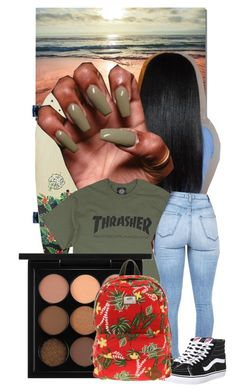 """""""Thrasher.1"""" by zariaaxo ❤ liked on Polyvore featuring MAC Cosmetics and Vans"""