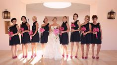 Pink and Navy Wedding