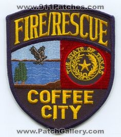 Coffee City Fire Rescue Department Patch Texas TX