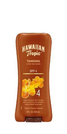Hawaiian Tropic Sunscreen Protective Dark Tannning Sun Care Sunscreen Lotion - SPF 4, 8 Ounce