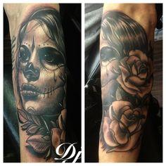 Sugar Skull Girl tattoo - http://99tattoodesigns.com/sugar-skull-girl-tattoo-3/
