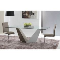 Vertex - Contemporary Glass Dining Table - 675.0000