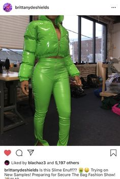 Is this Slime Enuff? Preparing for Secure The Bag Fashion Show! Swag Outfits, Classy Outfits, Girl Outfits, Cute Outfits, Fashion Outfits, Green Outfits, Teenager Outfits, Dope Fashion, Fashion Killa
