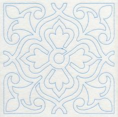 Marrakesh Tile Quilting Square 3 design (M8115) from www.Emblibrary.com