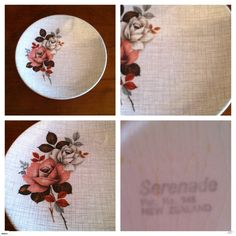 """CROWN LYNN """"SERENADE"""" PATTERN D948 SIDE PLATE 
