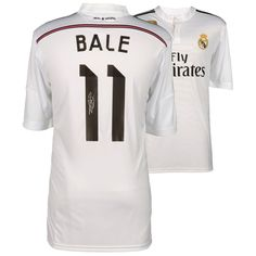 Gareth Bale Real Madrid Autographed 2014-2015 White Adidas Jersey - ICONS 02ed1ce75
